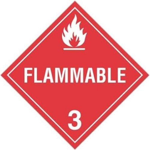 "GHS Safety TA300SS 10.75"" x 10.75"" Rigid Plastic Sign: ""Flammable 3"""