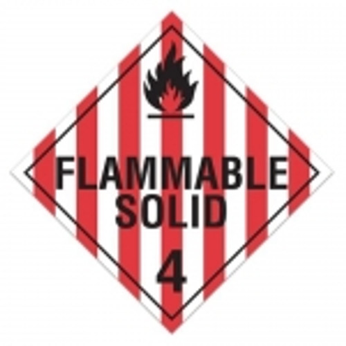 "GHS Safety TA410SS 10.75"" x 10.75"" Rigid Plastic Sign Flammable Solid 3"