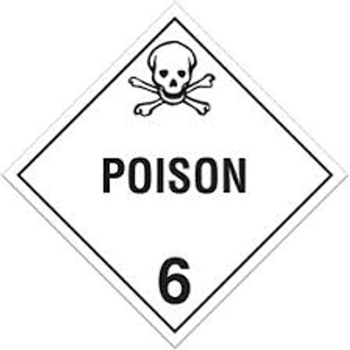 "GHS Safety TA600SS 10.75"" x 10.75"" Rigid Plastic Sign Poison 6"