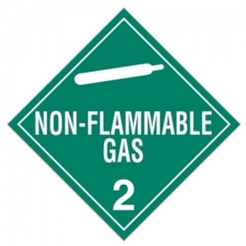 "GHS Safety TA220SS 10.75"" x 10.75"" Rigid Plastic Sign: Non-Flammable Gas 2"