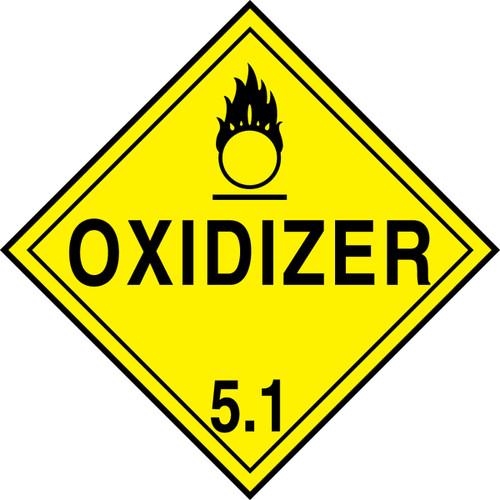 "GHS Safety TA510SS 10.75"" x 10.75"" Rigid Plastic Sign Oxidizer 5.1"