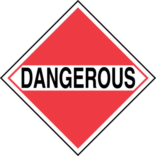 "GHS Safety TA950SS 10.75"" x 10.75"" Rigid Plastic Sign Dangerous"
