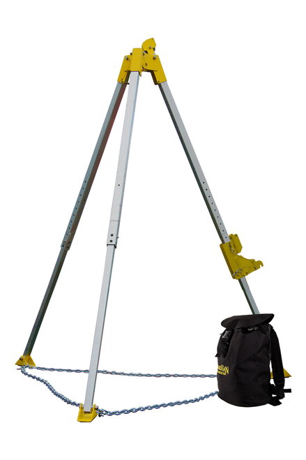 "Guardian 15050 ARC O POD 64"" - 90"" Tripod kit with 65' Rescue Winch"