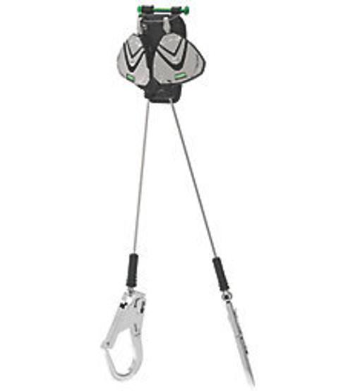MSA Leading Edge 8' Twin Cable SRLs with Aluminum Rebar Hooks