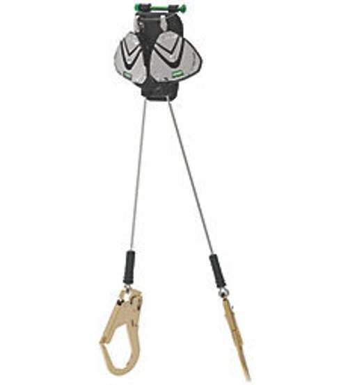 MSA Leading Edge 8' Twin Cable SRLs with Steel Rebar Hooks