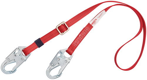 Protecta 1385301 Adjustable Web Positioning Lanyard with Snap Hooks 6'