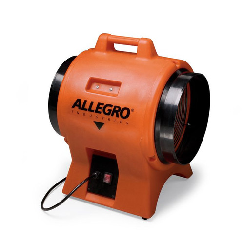 "Allegro 9539-12EX Axial Explosion-Proof (EX) Industrial Plastic Blower 12"""