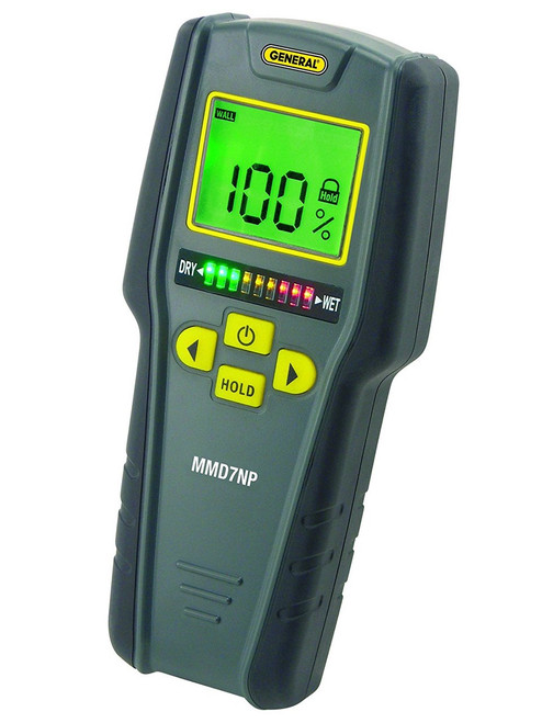 General Tools MMD7NP Moisture Meter, Pinless, Tricolor Bar Graph
