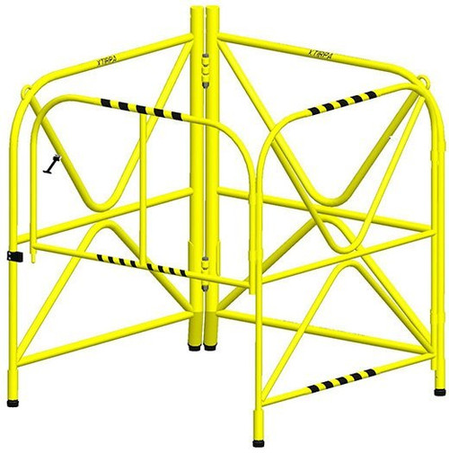 MSA IN-2108 XTIRPA Manhole Guard With Integrated Mast 42""