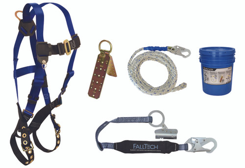 FallTech 8595RA Professional Roofers Kit with Storage Bag
