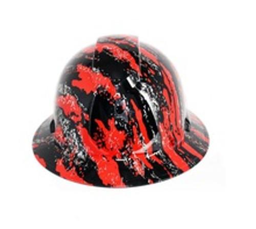 Pyramex HP541-UCR Urban Camo with Silver Streaks Red FullBrim Hard Hat