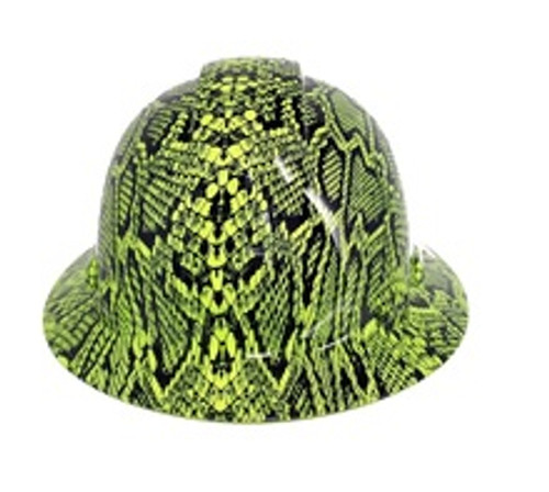 Pyramex HP541-SSG Snakeskin Hi-Vis Green Full Brim Hard Hat