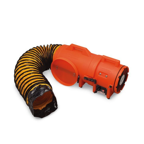 """Allegro 9533-15E 8"""" Axial AC Plastic Blower Compact Canister & Ducting"""