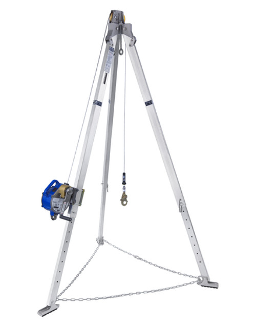 DBI Sala 8301030 7' Aluminum Tripod with Sealed-Blok 3-Way 50' SRL