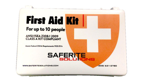 North SF00004512 First Aid Kit 10 Person Station Class A