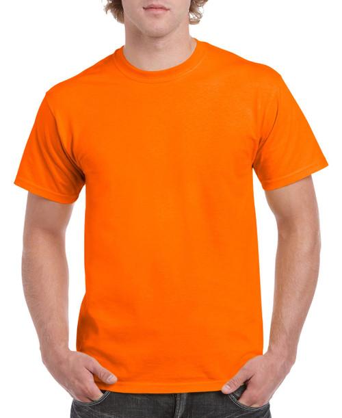 Gildan G5000 Heavy Cotton Adult Tee / Safety Orange
