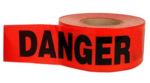 "Incom BT5057 Danger Value Grade Barricade Tape 3"" x 1000'"