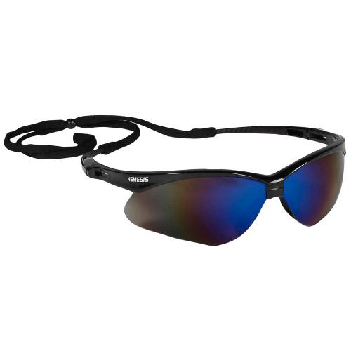 Jackson Safety  14481 Nemesis Blue Mirror Safety Glasses