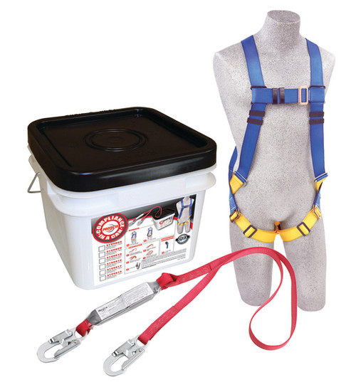 Protecta 2199802 Fall Protection Kit with Harness and 6' Lanyard