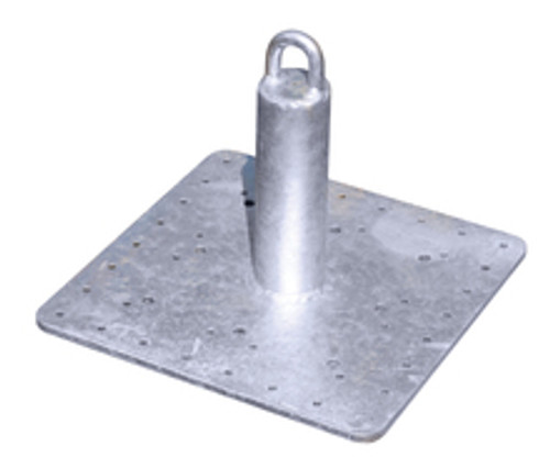 Roof Zone 48600 Welded Steel Galvanized Roof Anchor 12 In