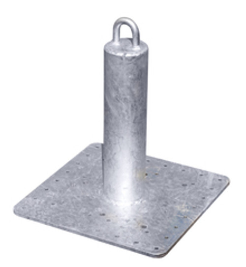 Roof Zone 48601 Welded Steel Galvanized Roof Anchor 18 IN