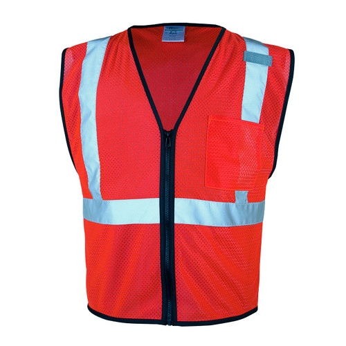ML Kishigo 1719 Class 2 Economy Series Zipper-Front Mesh Vest