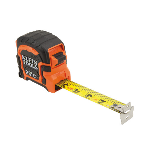 KLEIN TOOLS 86225 Double Hook Magnetic Tape Measure, 25-Foot