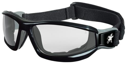 MCR RP110AF RP1 Series Goggle Black head band w/ Clear Anti-Fog lens (Dozen)