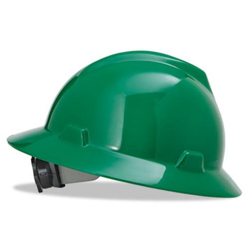 MSA 475370 V-Gard Blue Full Brim Hard Hat with Fas-Trac Suspension