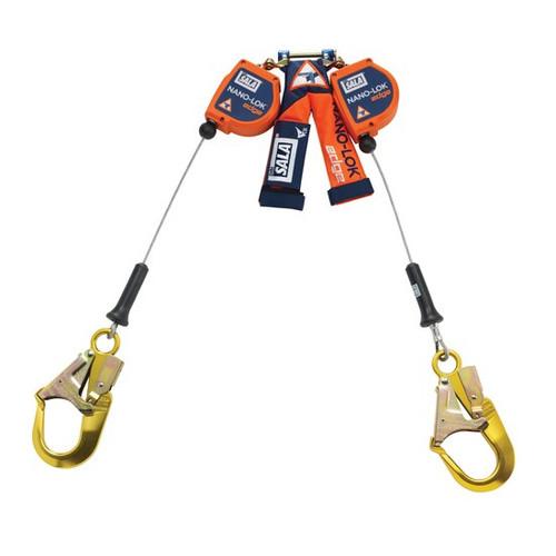 DBI SALA 3500249 Twin-Leg Quick Connect SRL 8' with Aluminum Rebar Hooks