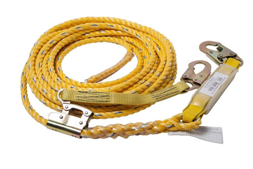 Guardian 01320 Poly steel Rope Vertical Lifeline Assembly 50'