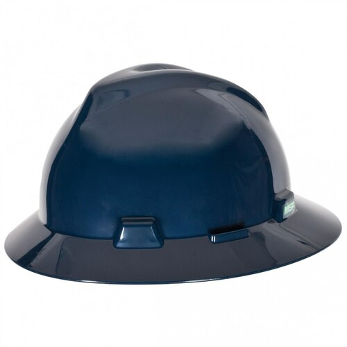 MSA 802975 V-Gard Full Brim Hard Hat - Fas-Trac Suspension - Dark Blue