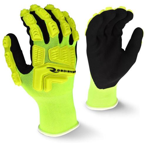 Radians RWG21 Hi-Viz Work Gloves TPR Impact Protection