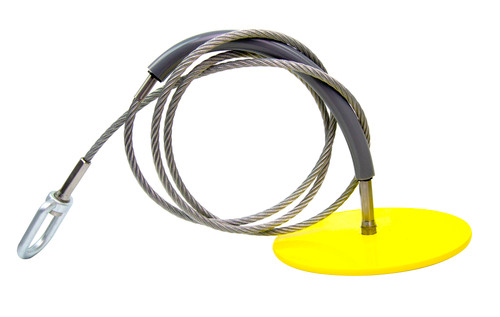 """Frontline Drop Thru Anchor 6"""" Round Plate with 6' Cable"""