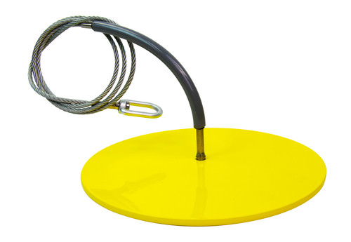 """Frontline Drop Thru Anchor 12"""" Round Plate with 6' Cable"""