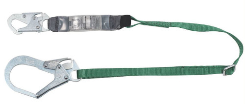 MSA 10191757 V-Series Single-leg Adjustable Energy Absorbing Lanyard 6'