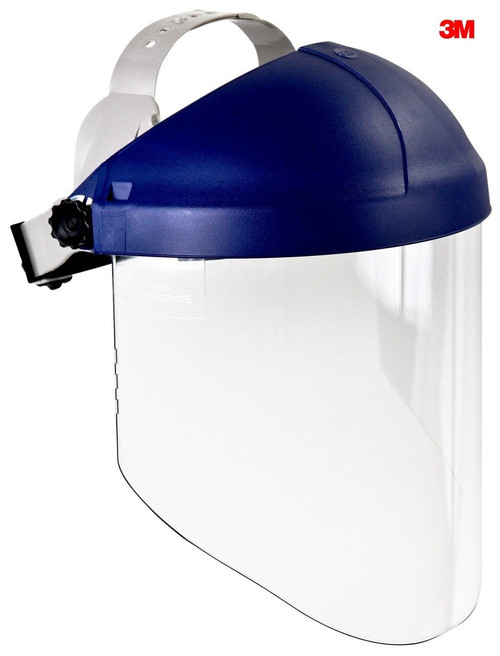 3M 82783 Ratchet Headgear H8A Head and Face Protection with Clear Visor