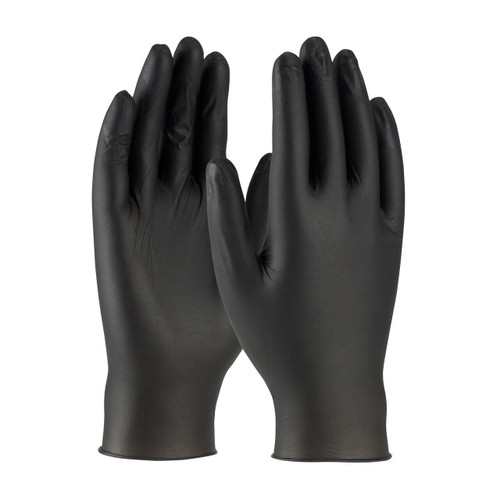 PIP 63-632PF Black Ambi dex Axle Disposable Nitrile Gloves 4 mil