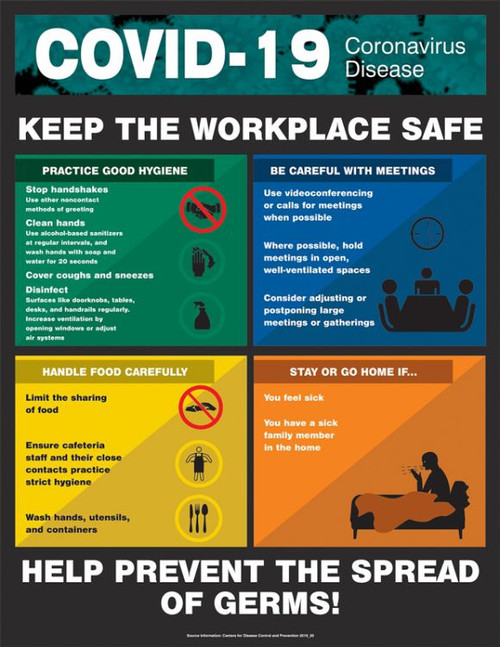 COVID-19 Keep the Workplace Safe Poster (28'' x 22'')