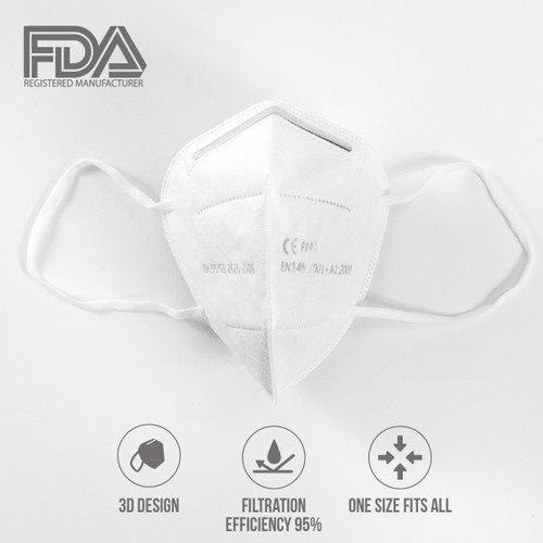 KN95 Protective Mask with 95% Filtration Rate (FDA Registered)