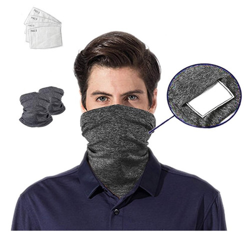 Fierce Safety Face Cover Neck Tubes with PM2.5 Filter
