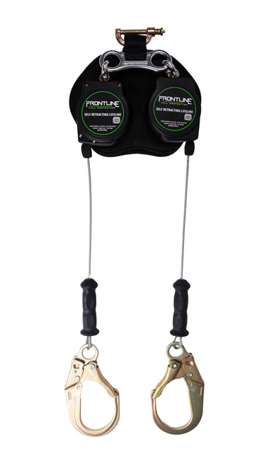 Frontline Leading Edge Cable Twin Leg 8ft SRL with Steel Rebar Hook Ends