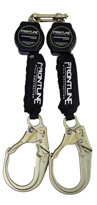 Frontline Aramid Fiber Web Twin Leg 6ft SRL with Steel Rebar Hook Ends