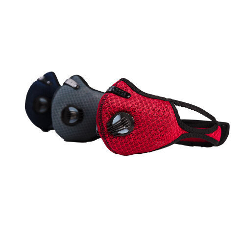 Sport Mask Activated Carbon Dust Mask with Exhalation Valves (1 Mask)