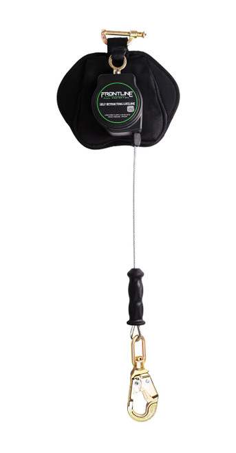 Frontline Leading Edge Cable Single Leg 8ft SRL with Steel Snap Hook End