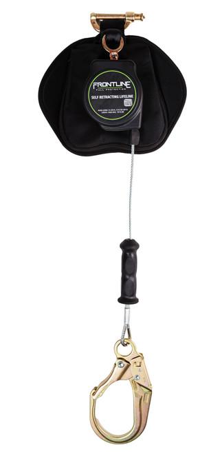 Frontline Leading Edge Cable Single Leg 8ft SRL with Steel Rebar Hook End
