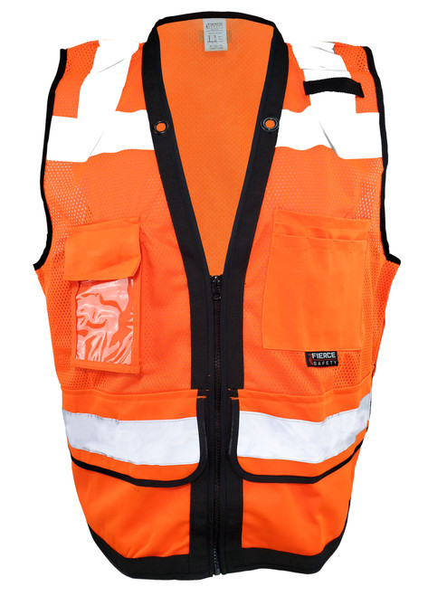 Fierce Safety SU300 Class 2 Reflective Surveyors Vest