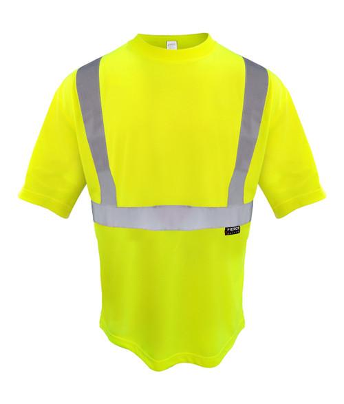 Fierce Safety SN200G Class 2 Moisture Wicking Short Sleeve Green Shirt