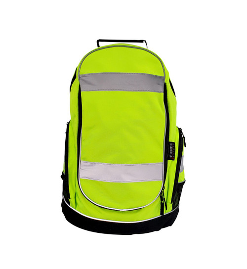 Fierce Safety AC400H High Vis Green Comfort Backpack with Reflective Tapes