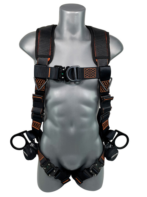Frontline Combat Lite Vest Style Harness with Front, Side D-Rings and Trauma Straps
